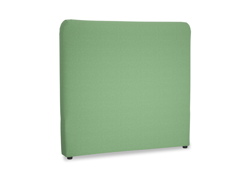 Double Ruffle Headboard in Clean green Brushed Cotton