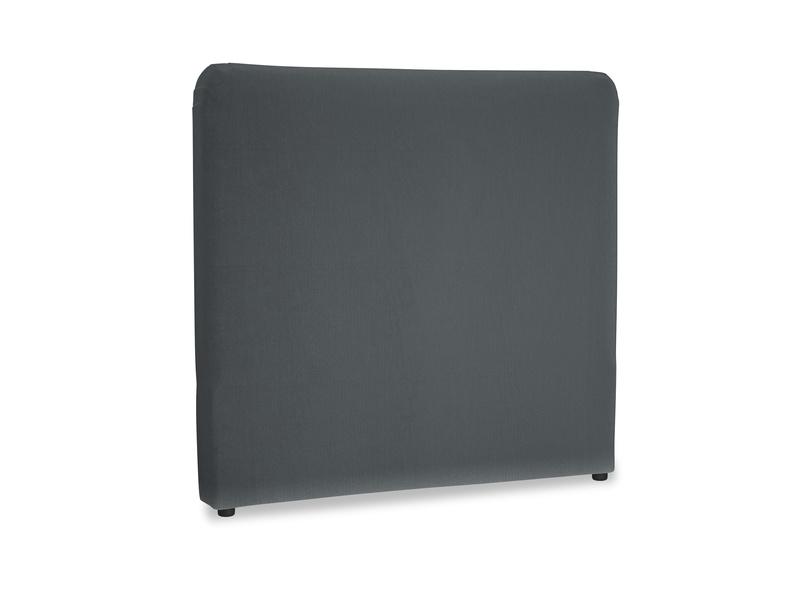 Double Ruffle Headboard in Dark grey Clever Deep Velvet