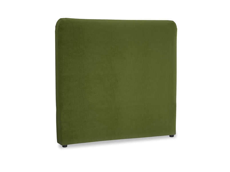 Double Ruffle Headboard in Good green Clever Deep Velvet