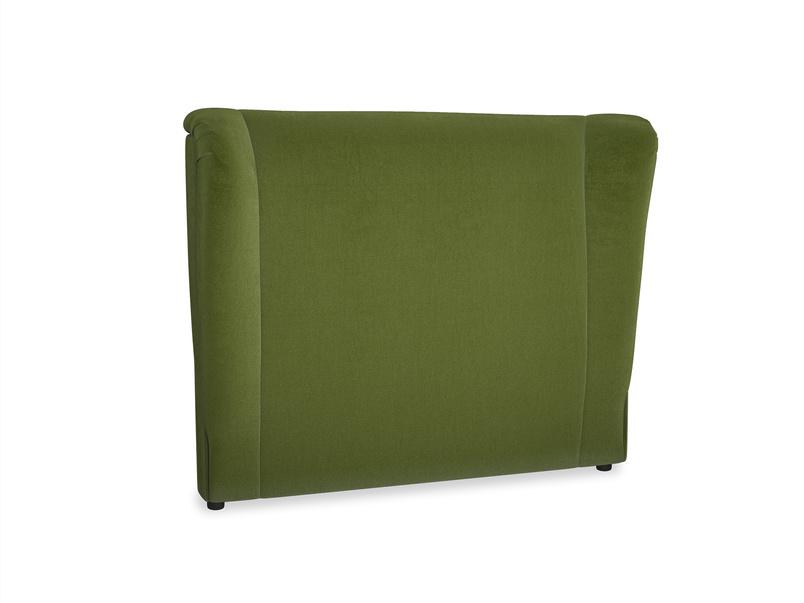 Double Hugger Headboard in Good green Clever Deep Velvet