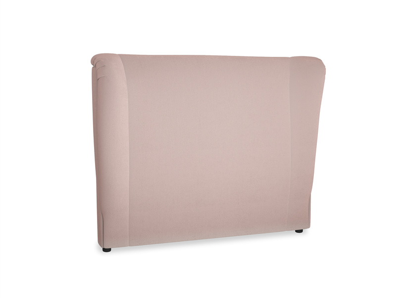Double Hugger Headboard in Rose quartz Clever Deep Velvet
