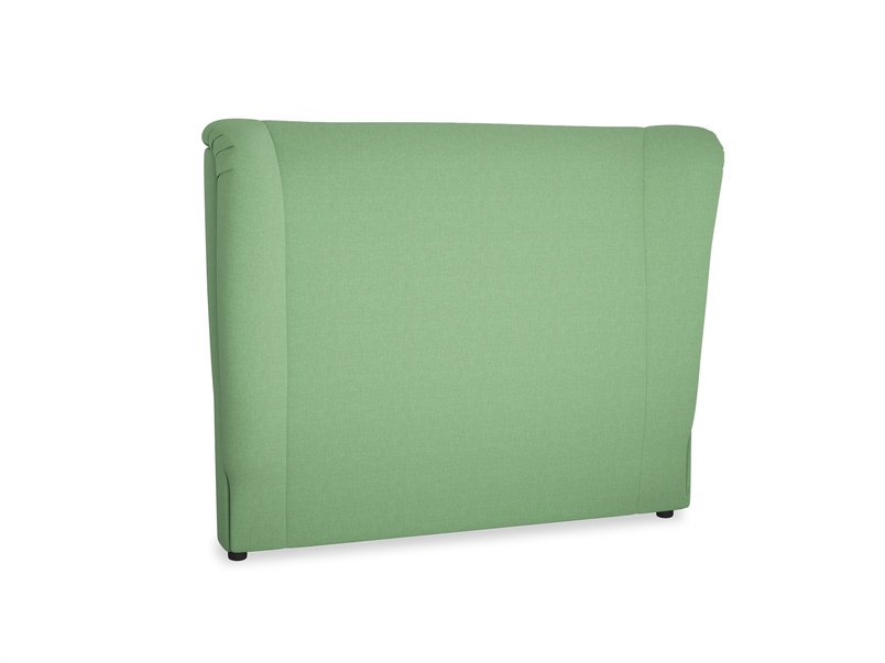 Double Hugger Headboard in Clean green Brushed Cotton
