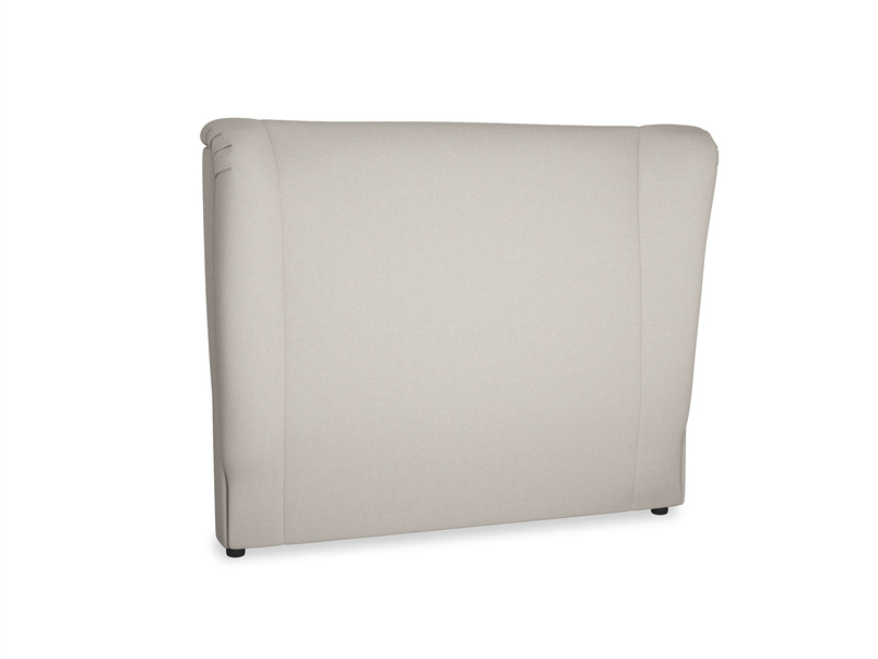 Double Hugger Headboard in Sailcloth grey Clever Woolly Fabric