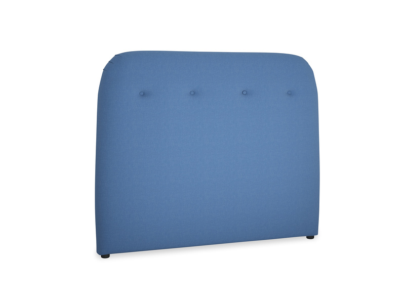 Double Napper Headboard in English blue Brushed Cotton
