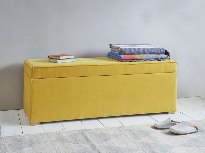 Eton Mess ottoman storage chest and upholstered bench
