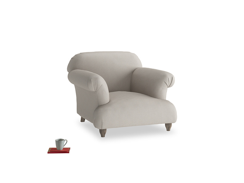 Soufflé Armchair in Sailcloth grey Clever Woolly Fabric