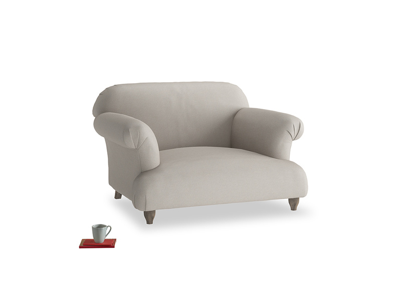 Soufflé Love seat in Sailcloth grey Clever Woolly Fabric