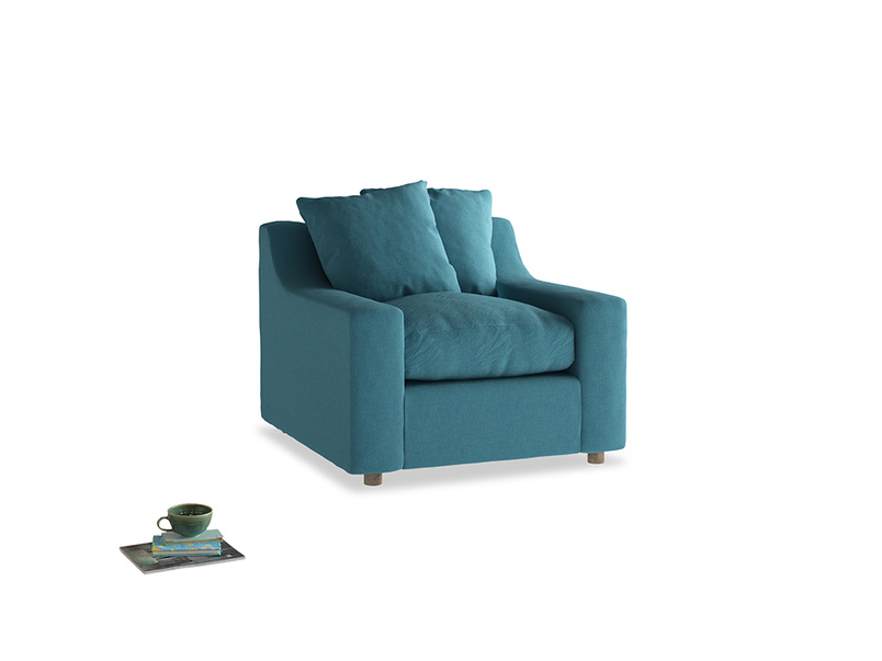 Cloud Armchair in Lido Brushed Cotton
