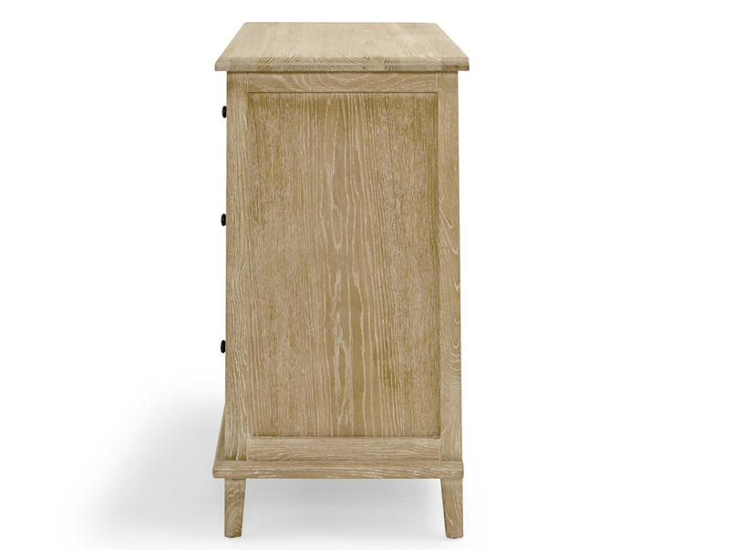 Solid oak French vintage style Legacy bedroom chest of drawers