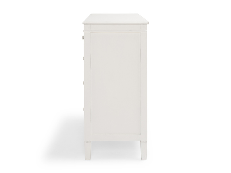 Off-white Ludo painted chest of drawers for the bedroom