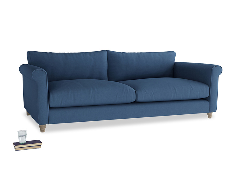Extra large Weekender Sofa in True blue Clever Linen