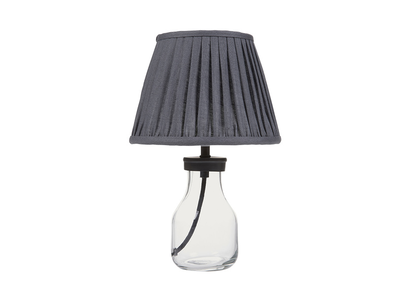 Mini Milk Bottle Table Lamp with Graphite shade