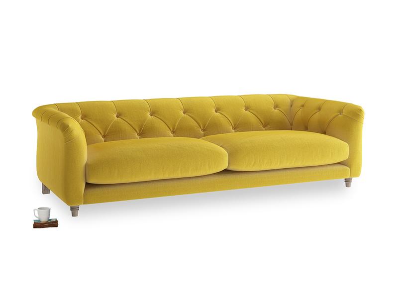 Large Boho Sofa in Bumblebee clever velvet