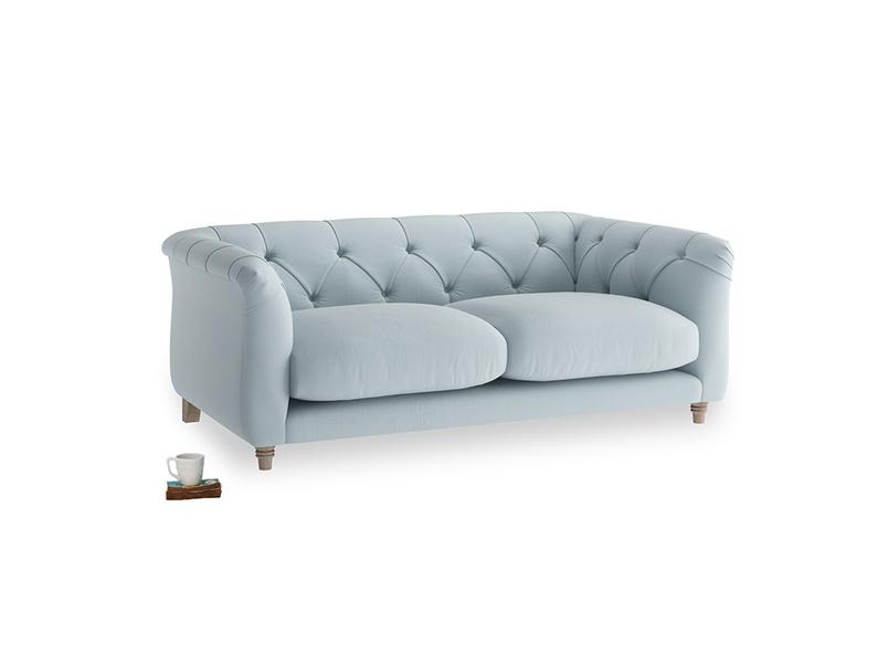 Small Boho Sofa in Scandi blue clever cotton