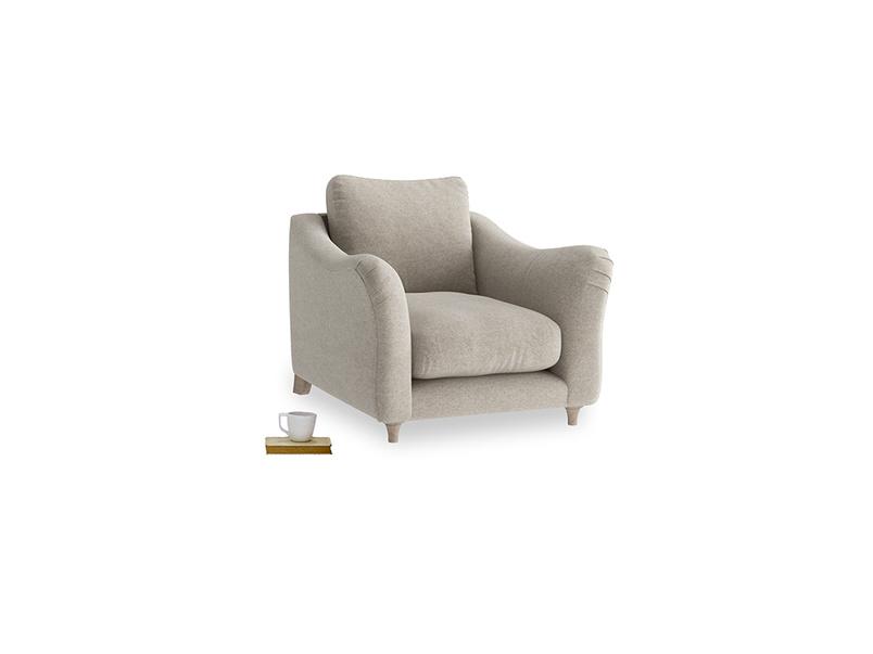 Bumpster Armchair in Birch wool