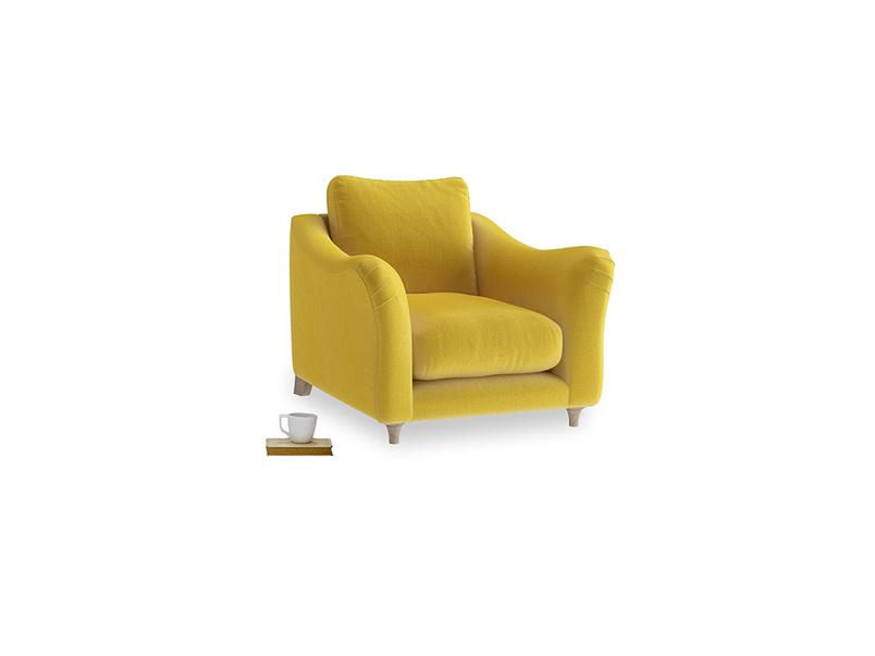 Bumpster Armchair in Bumblebee clever velvet