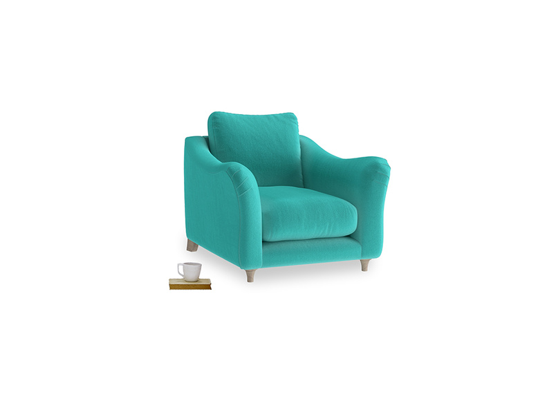 Bumpster Armchair in Fiji Clever Velvet