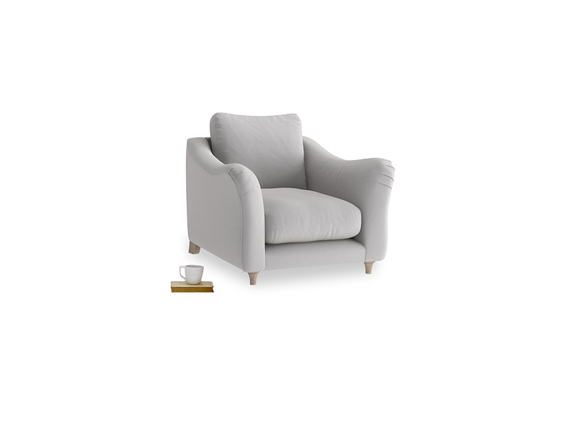 Bumpster Armchair in Flint brushed cotton