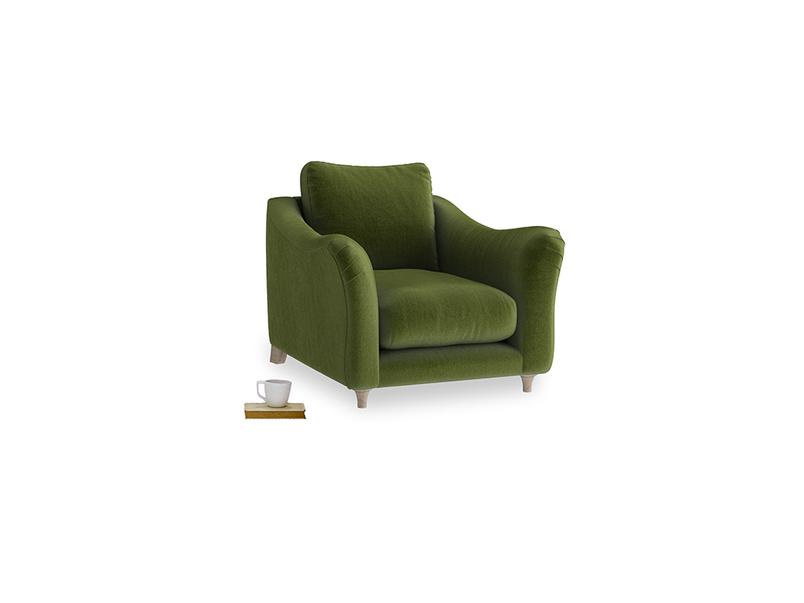 Bumpster Armchair in Good green Clever Deep Velvet
