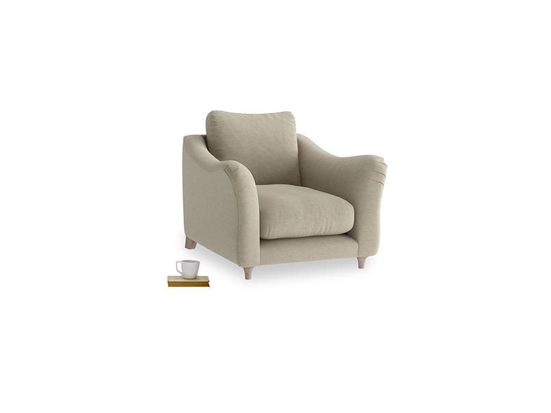 Bumpster Armchair in Jute vintage linen