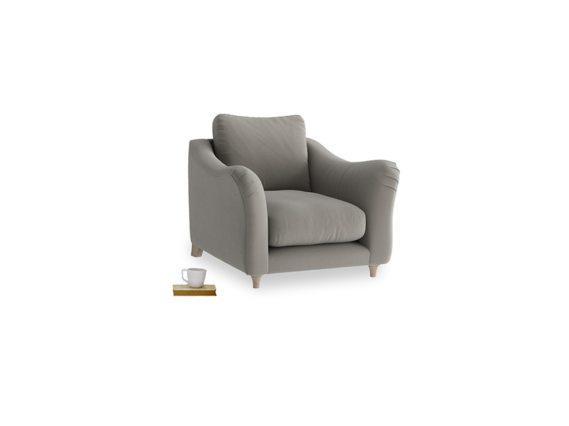 Bumpster Armchair in Monsoon grey clever cotton