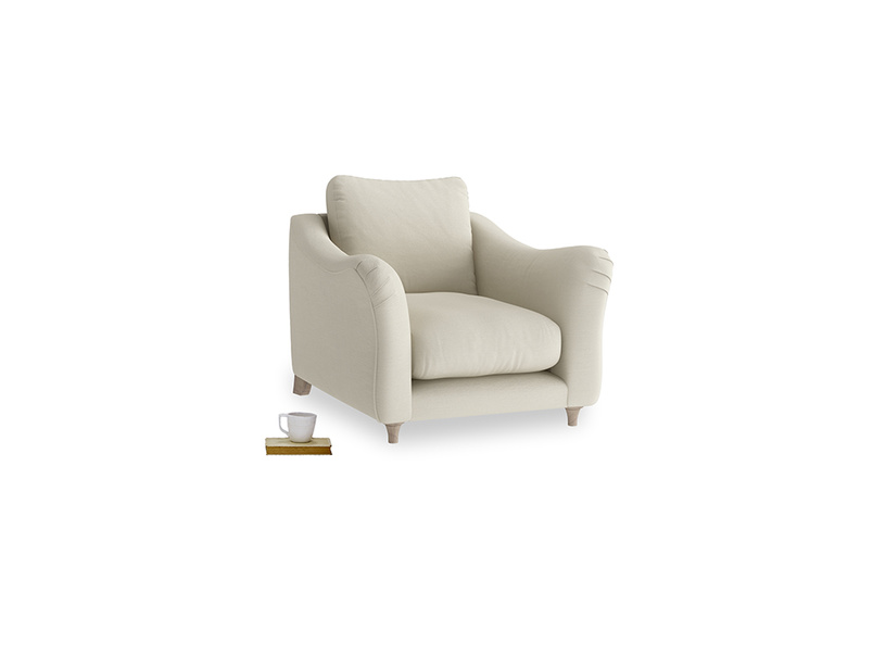 Bumpster Armchair in Pale rope clever linen