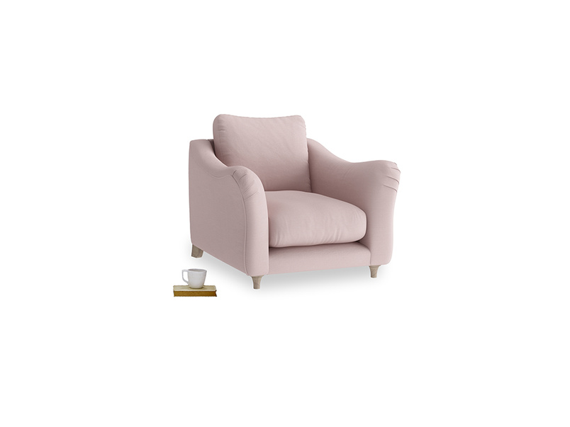 Bumpster Armchair in Potter's pink Clever Linen