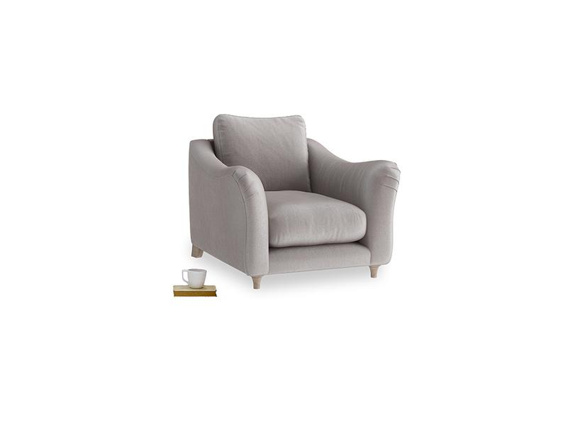 Bumpster Armchair in Soothing grey vintage velvet
