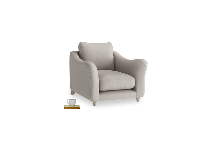 Bumpster Armchair in Sailcloth grey Clever Woolly Fabric