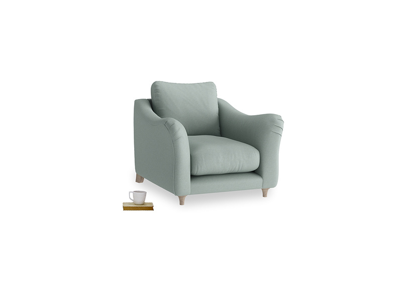 Bumpster Armchair in Sea fog Clever Woolly Fabric