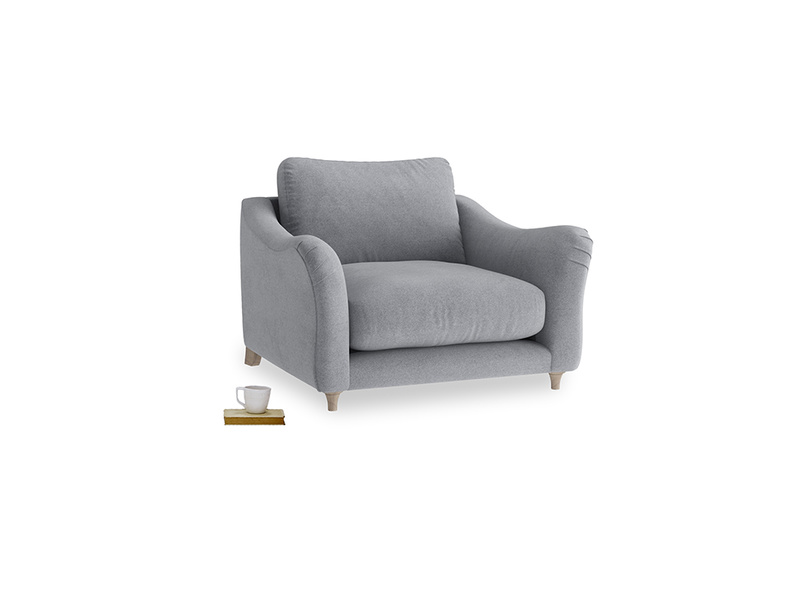 Love Seat Bumpster Love Seat in Dove grey wool