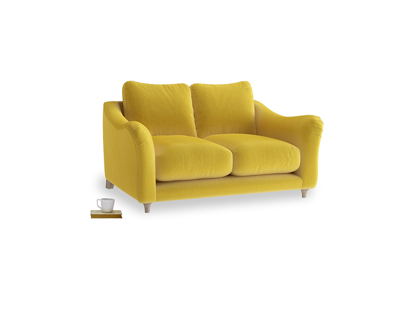 Small Bumpster Sofa in Bumblebee clever velvet