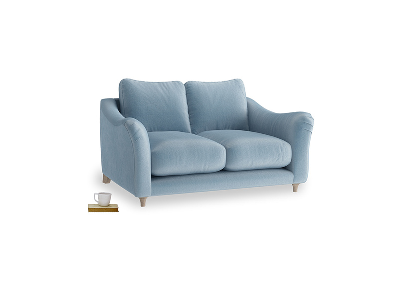 Small Bumpster Sofa in Chalky blue vintage velvet