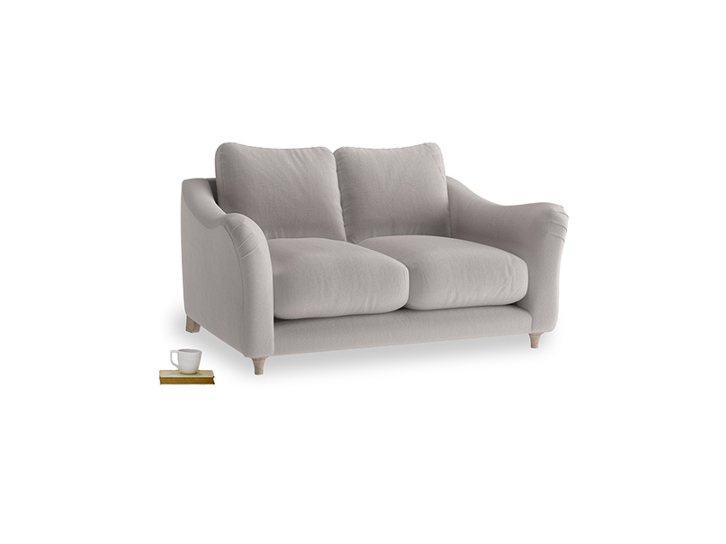 Small Bumpster Sofa in Mouse grey Clever Deep Velvet