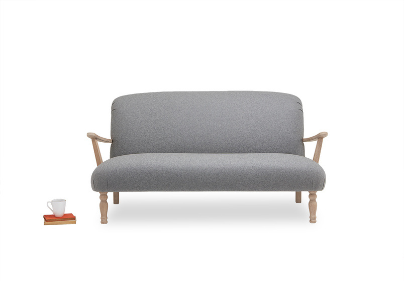 Brew wooden armed occasional sofa