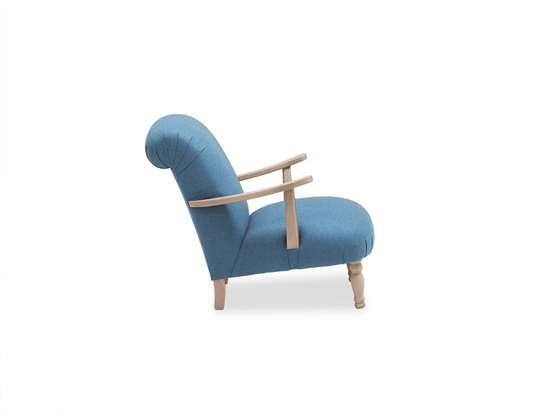 Brew upholstered occasional armchair with wooden arms