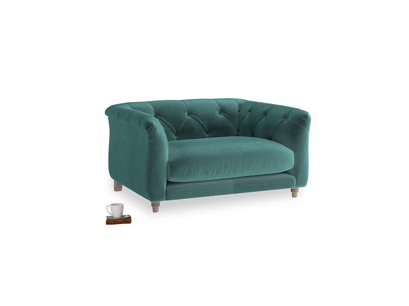 Boho Love Seat in Real Teal clever velvet