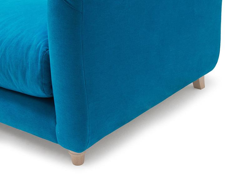 Boho contemporary high arm sofa