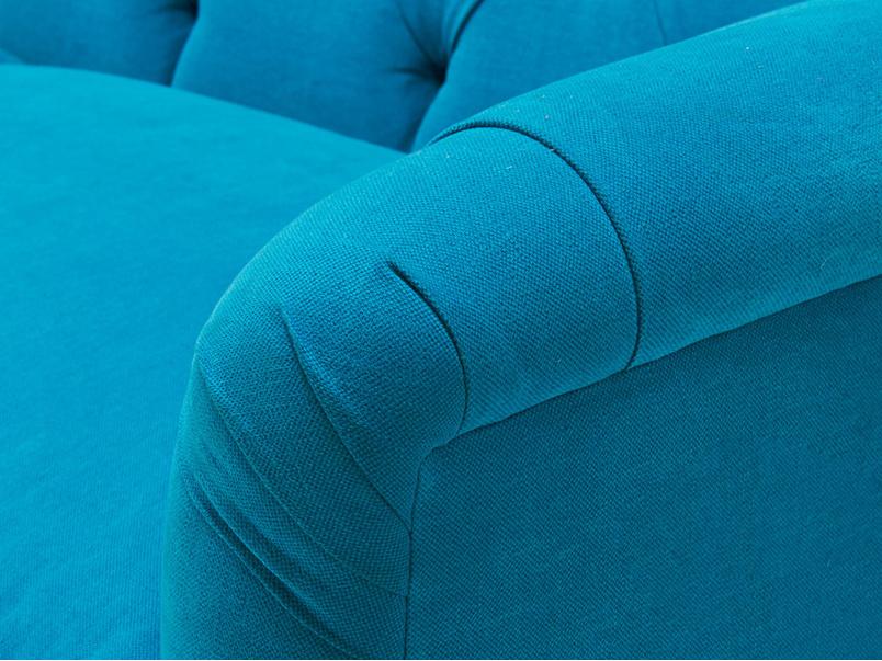 Boho button back high arm sofa