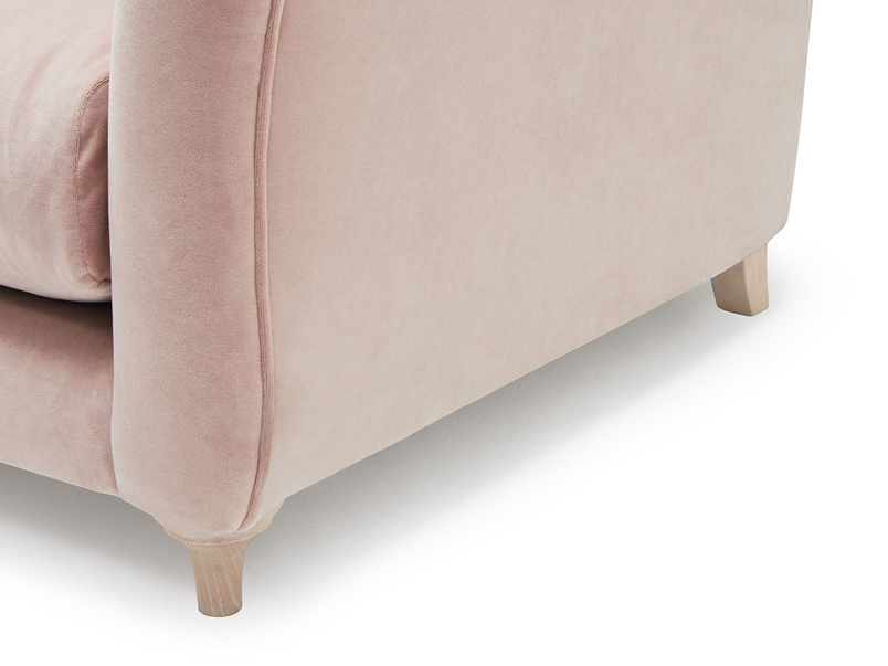 Bumpster modern sofa with curved arms