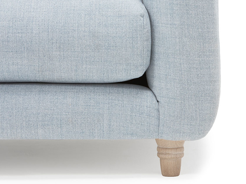 Boho modern button back love seat
