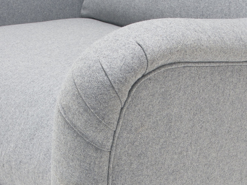 Bumpster curved arm armchair