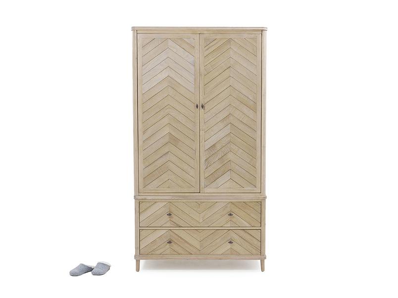 Super Flapper wooden wardrobe with parquet style