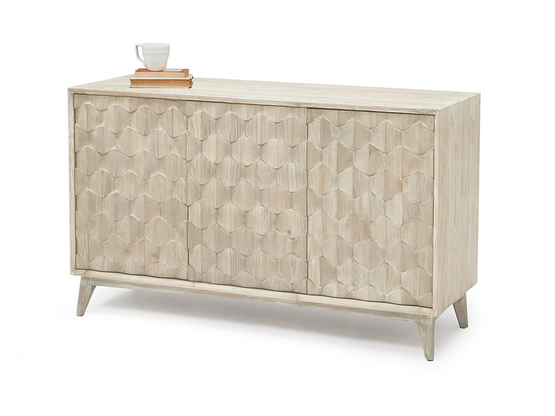 Grand Orinoco patterned wood sideboard