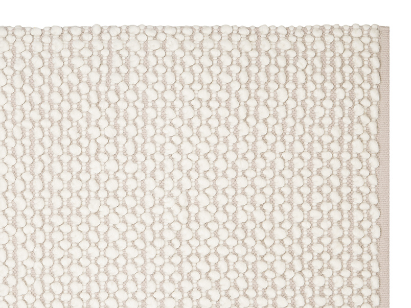 Bobble woven floor rug in Putty