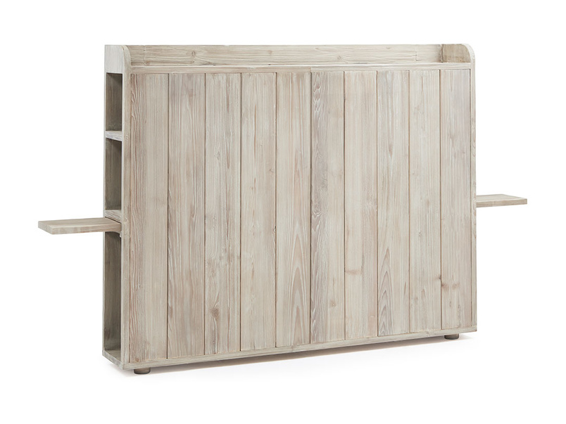 Smuggler reclaimed wood storage headboard