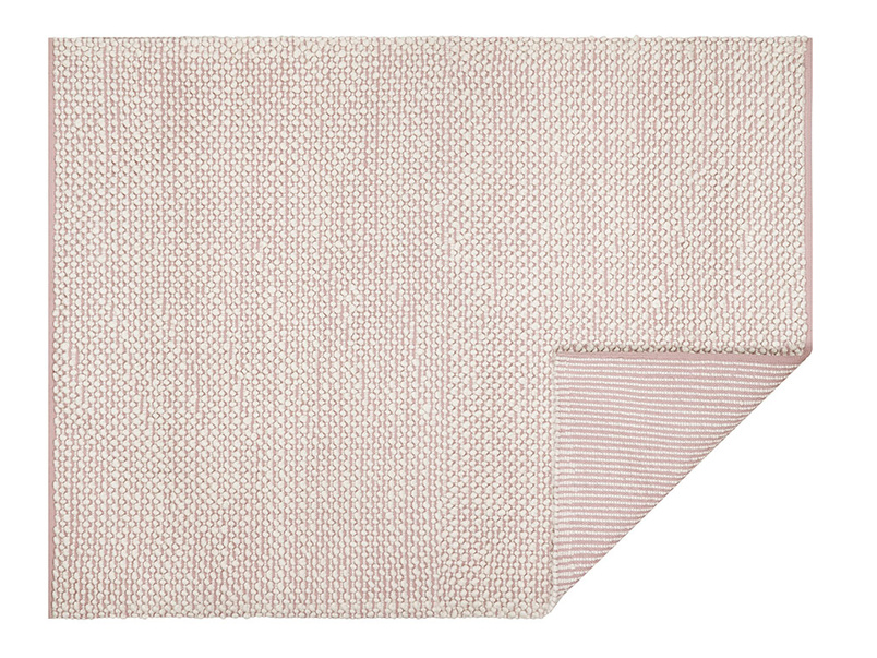 Bobble woven floor rug in Pink