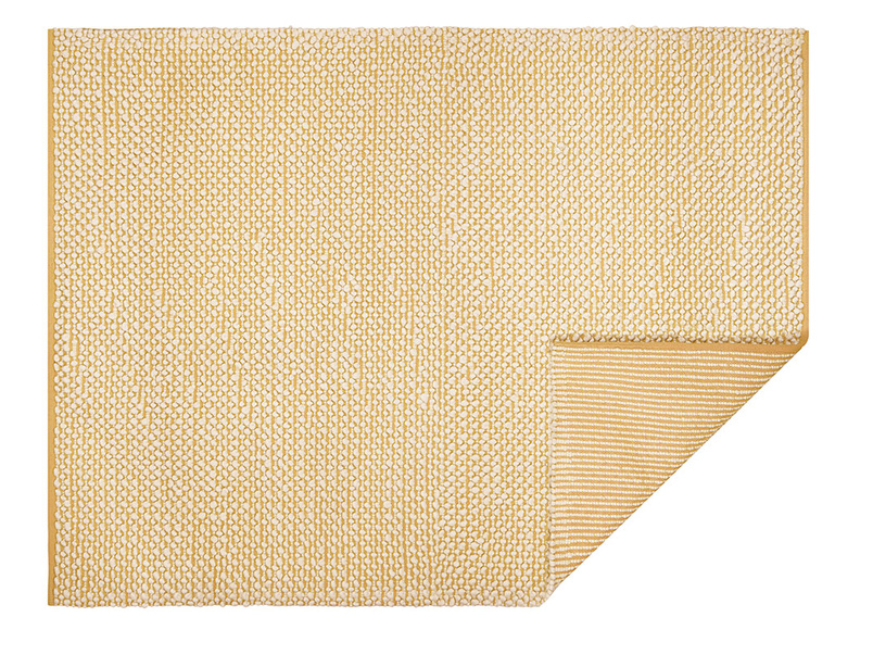 Bobble woven floor rug in Burnt Yellow