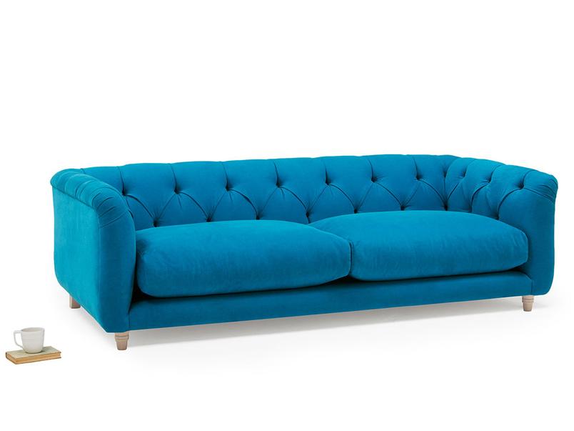 Boho high arm upholstered sofa