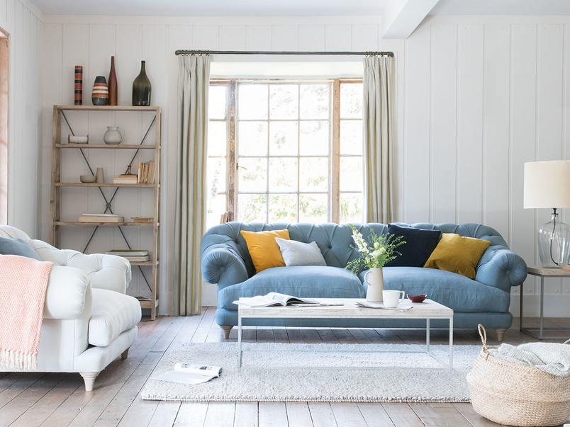 Bagsie upholstered chesterfield sofa